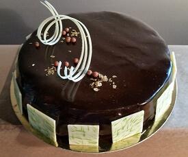 Birthday cake double chocolate