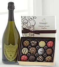 Dom Perignon Champagne and chocolate