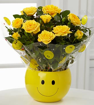 Smiley Face Flowering Planter
