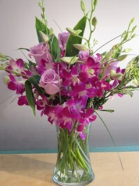 Orchids and roses