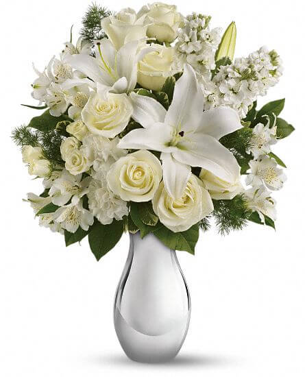 All white flowers arrangement