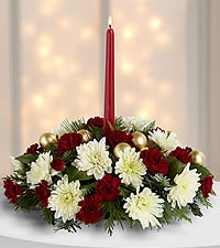 Christmas Centerpiece with Candle